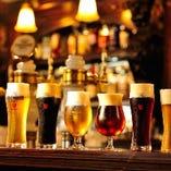極上の生ビールはクラフトビール2種含め、常時全6種ご用意。