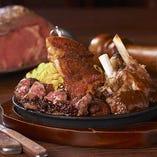 「ローズ肉盛りプレート」豪快肉料理3種盛り合わせ。新宿NSビル店限定メニューです。おすすめ!