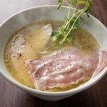 鶏白湯+煮干し