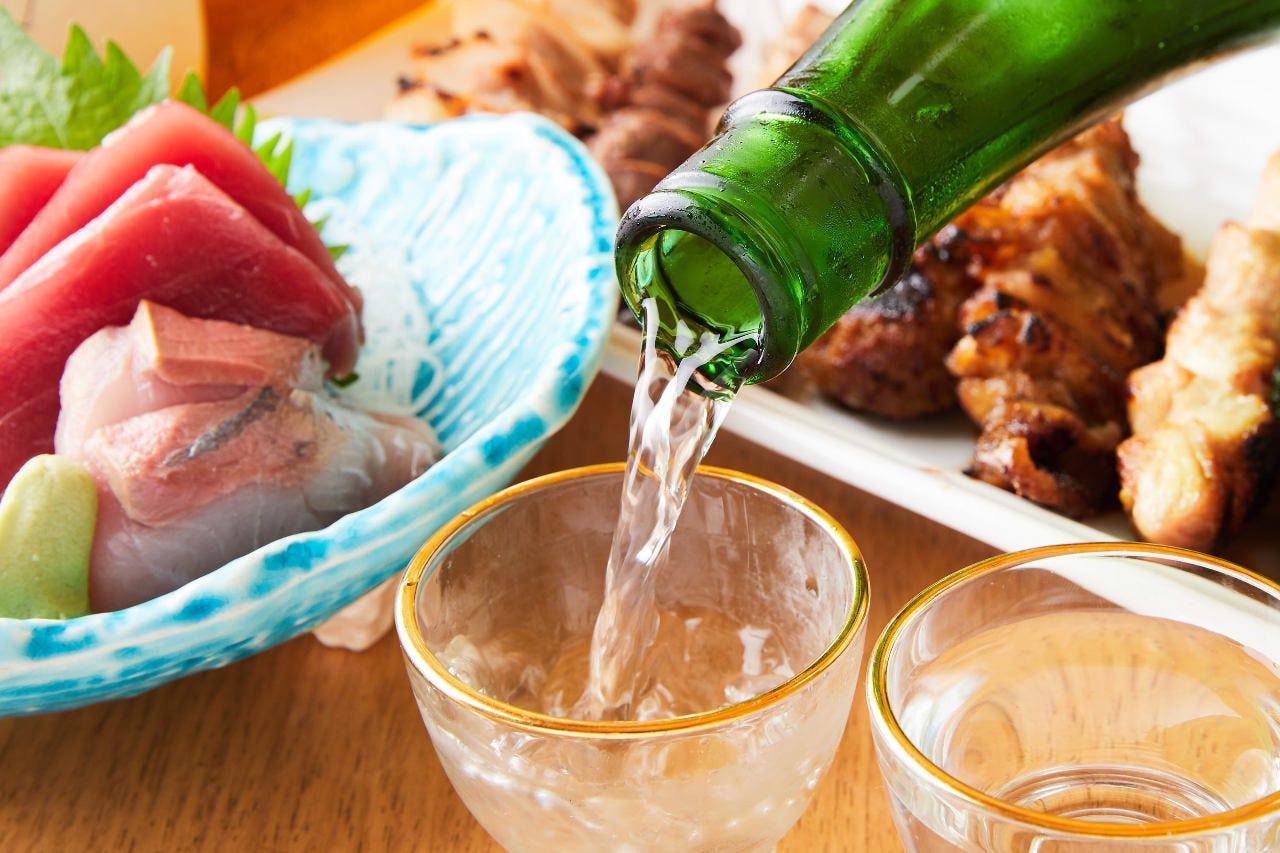 炭火焼鳥と茨城地酒を完全個室で!