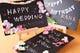 【無料】小さい黒板にメッセージをお書きして卓上にサプライズ♪