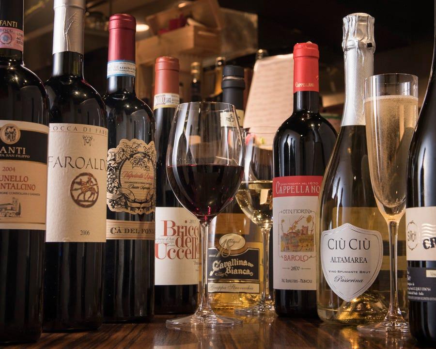 こだわりのイタリアワイン。