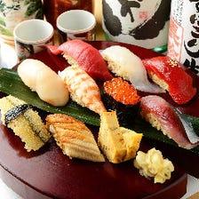 【特選 握り盛り】当店名物寿司盛り/今宵のより抜きネタ9貫