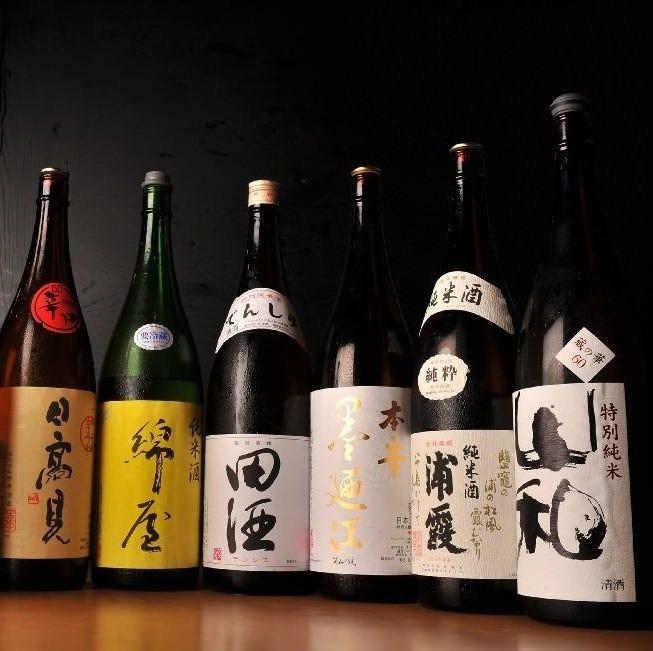 種類豊富に取り揃えた宮城・東北銘酒