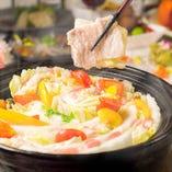 白菜と豚バラのミルフィーユ鍋~豆腐スープ仕立て~
