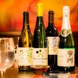 ワインも豊富にございます