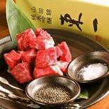 黒毛和牛のお料理をご提供。