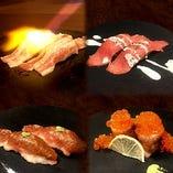 肉炙り寿司☆食べ放題コースを実施中!お好きなものをどうぞ!