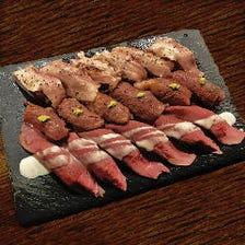 各種.肉寿司