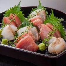 厳選された鮮魚で旬の恵みを堪能