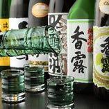 熊本の地酒・焼酎の取り揃え