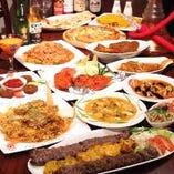 本格的アジアン料理の数々!