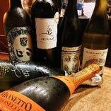 料理に合うワイン、日本酒あります!