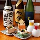 珍味と日本酒