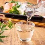 日本酒常時50種以上を90ml~ご提供