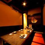 安心の完全個室にてお食事を楽しめます!