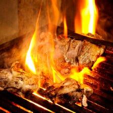 薩摩地鶏のもも炭火焼き
