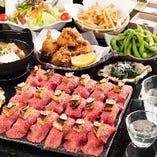 フォアグラ&トリュフ肉寿司食べ放題+2H飲放付5,280円⇒3,980円