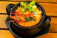 有頭海老の辛酸スープ(トムヤムクン)