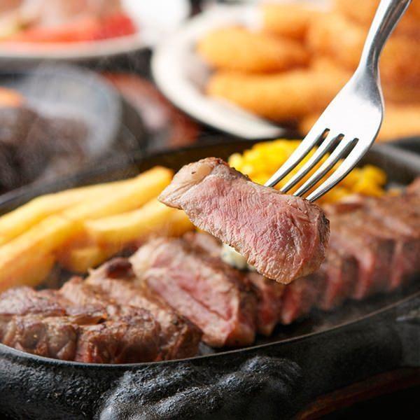絶品!肉厚&肉汁たっぷりステーキ