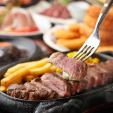 【3H飲み放題付!】サーロインステーキ・サイコロステーキなど肉料理を堪能!『がっつり肉堪能』コース!