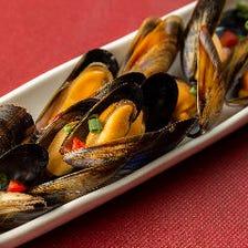 ムール貝のシチリアワイン蒸し