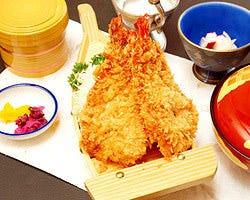 海老フライ定食!