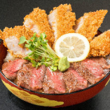 ★鬼が島名物★ テキカツ丼ステーキとトンカツのコラボ。