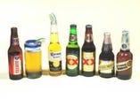 メキシコワインもビールも各種 グラスにもこだわっています