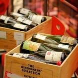 ボトルワインの取り揃えは約400種類以上!