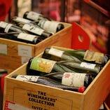 ソムリエ厳選のワインが常時200種以上♪