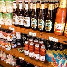 タイの食材が揃う物販コーナー