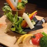 新鮮なお野菜をディップソースで!