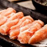 軽く炙った焼きしゃぶは、とろけるような旨味を堪能いただけます