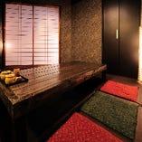 【完全個室/6名様まで】ゆったり寛げる、落ち着きの和個室