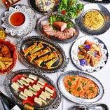 多彩な料理が楽しめるビュッフェスタイルのパーティープラン
