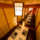 個室は最大70名様まで可能!貸切宴会や団体様の宴会に最適。