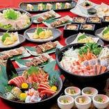 旬の食材を使った宴会コース!豪華料理9品+飲み放題付5200円