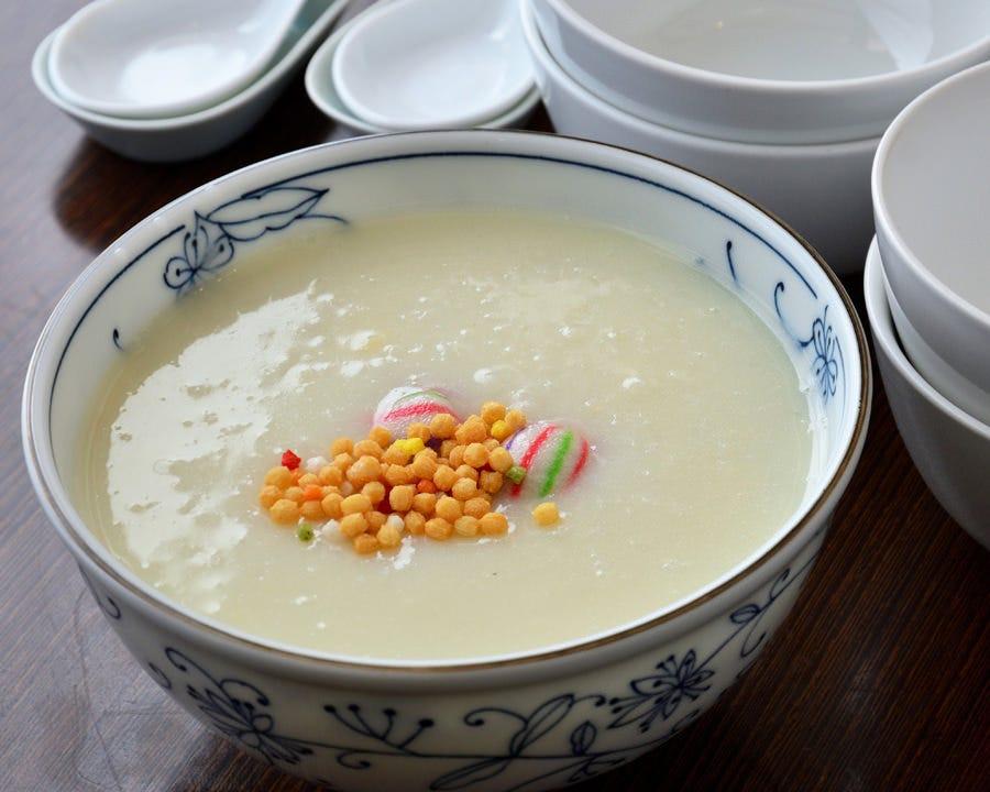 ま~ったり♪ 湯葉と豆乳のお粥