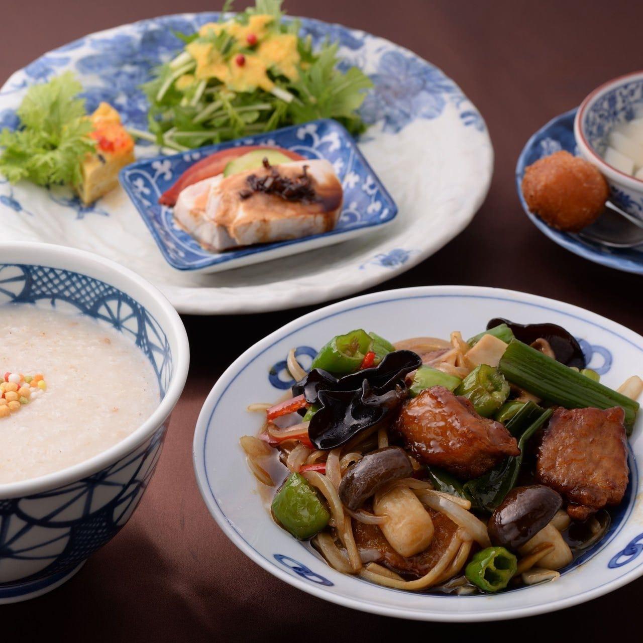 =京のおもてなし お粥セット= 京都ポークの黒酢スブタ1540円
