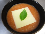 トマトとチーズのお粥