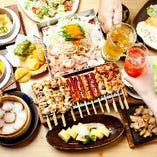 宴会コースは90分飲み放題が付いて3,000円~ご用意。