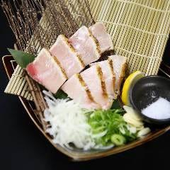 ぶりの荒火焼き~シチリア海塩と藻塩ポン酢を添えて~