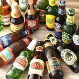 世界各国のクラフトビールを飲むことができます!
