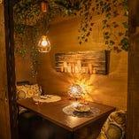 ◆二人の距離を近づけるプライベート個室◆