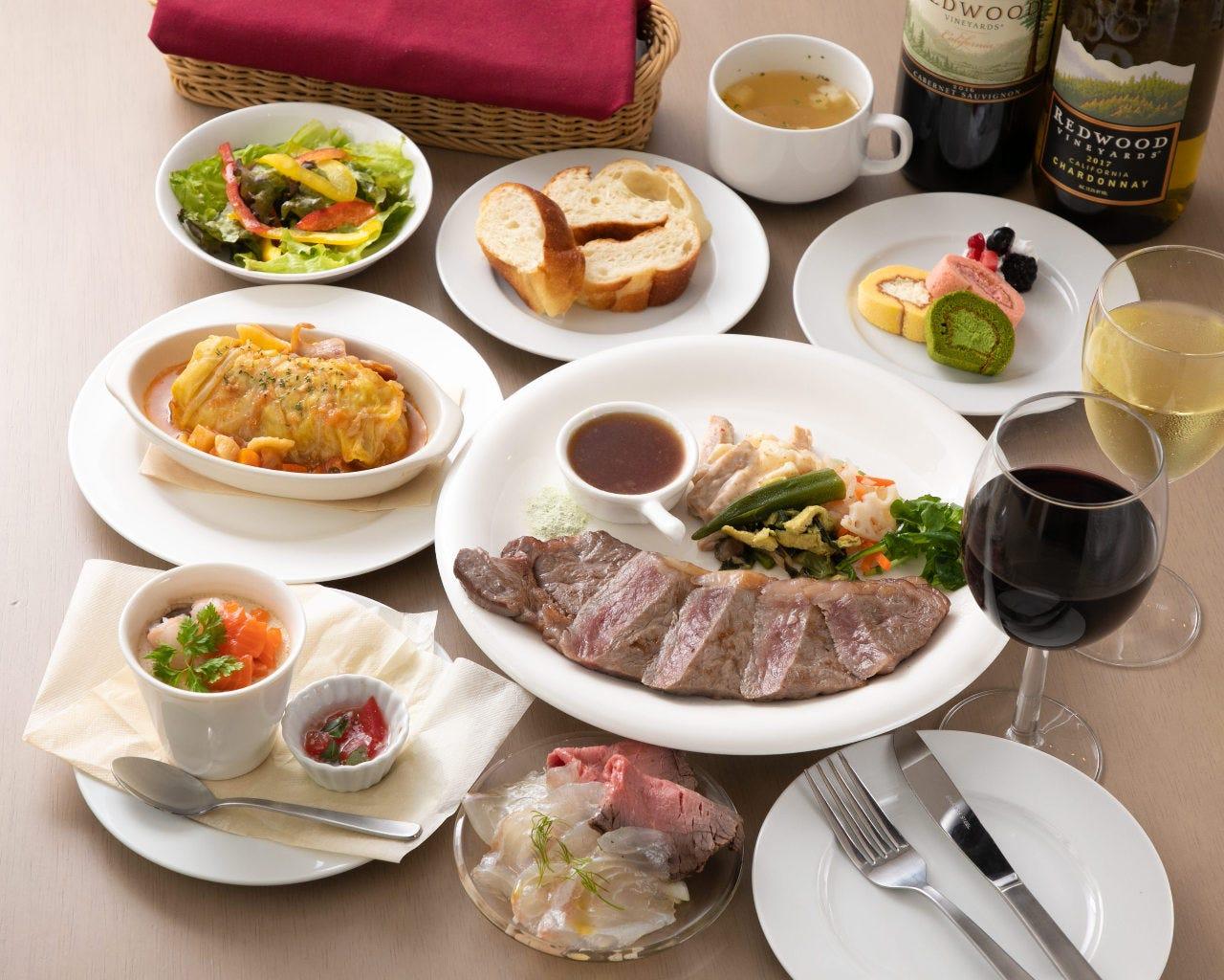 【2時間飲み放題付】メインのステーキが選べる!アニバーサリーコース<全8品>記念日・デート