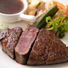 肉汁溢れる♪本格ステーキ