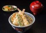 平日限定『 海老野菜天丼 』