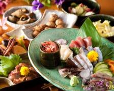 新鮮な地鶏・鮮魚を楽しむ宴会コース