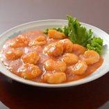 4:小海老のチリソース煮